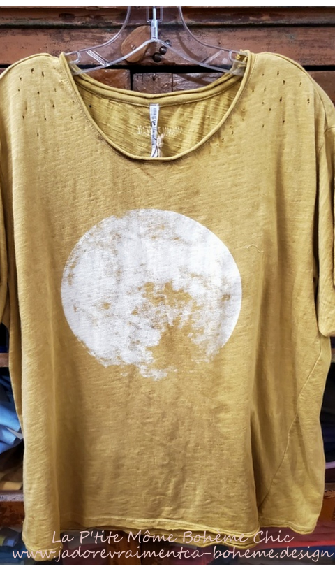 Moon T Top In Marigold Boyfriend Cut