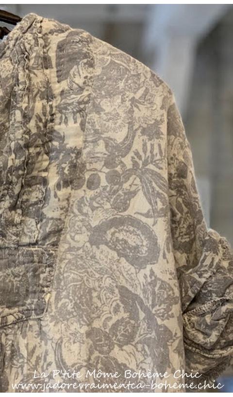 Twill Bibby Dress with Pleated Neck Placket