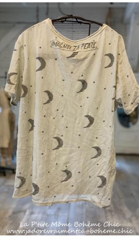 Crescent-Moon & Stars T In Moonlight New Boyfriend Cut