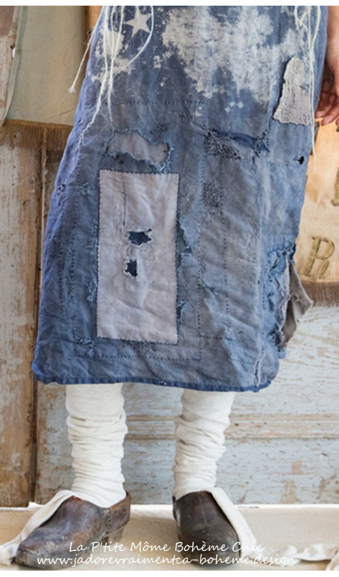 Metalworker's Apron with Flannel and Cotton Repairs