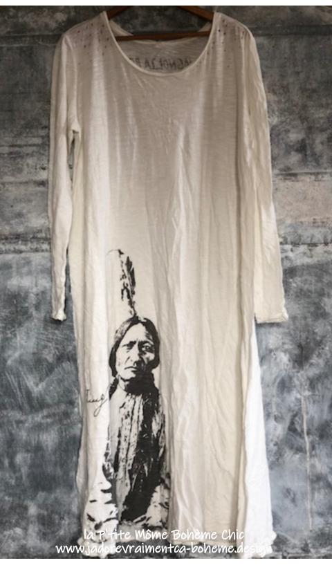 Sitting Bull Tee-Dress In True