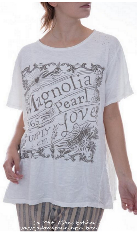 New Love Tee Coupe Boyfriend En Blanc