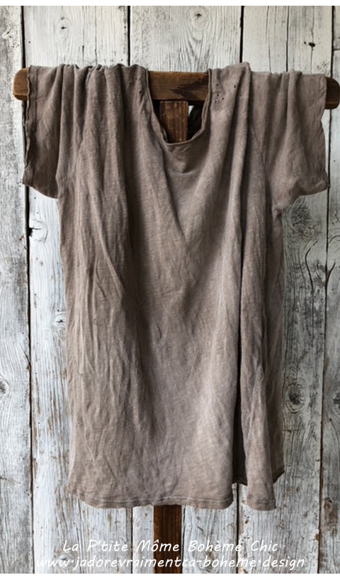 New Boyfriend Tee In Clay Boyfriend Fit