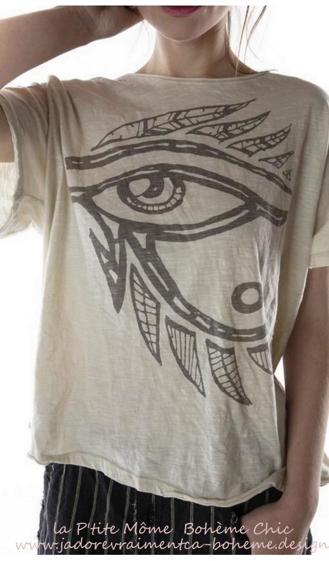 Eye Of Ra T-Shirt Moonlight Imprimé En Coupe Boy Friend