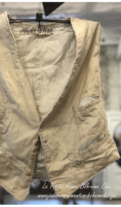 Dax Vest with Hand Distressing OAK Piece