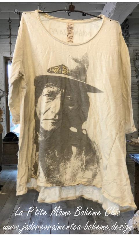 Sitting-Bull-Monarch-Joni Tee Shirt En Moonlight