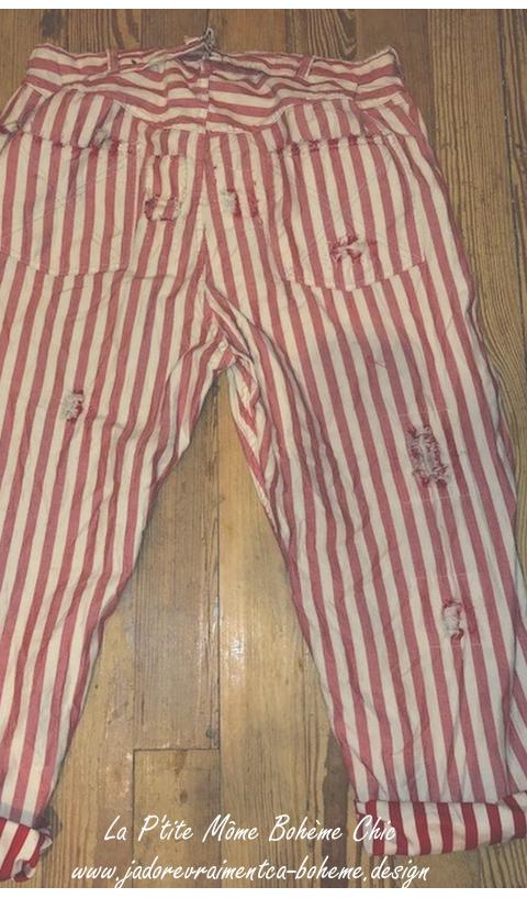 Miner Denim Jeans En Big Top Red, Avec  Usures Bien Maîtrisées