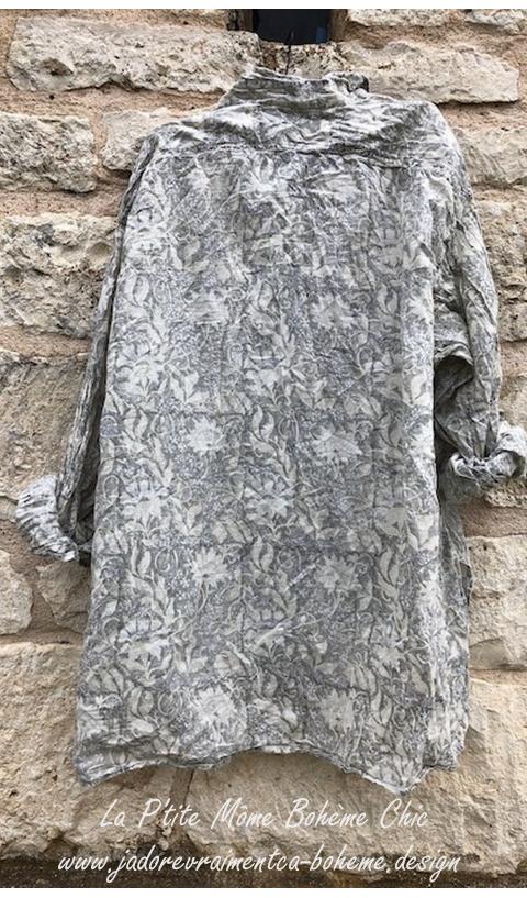 Adison Shirt in Lys Hand Block Print  Workshirt