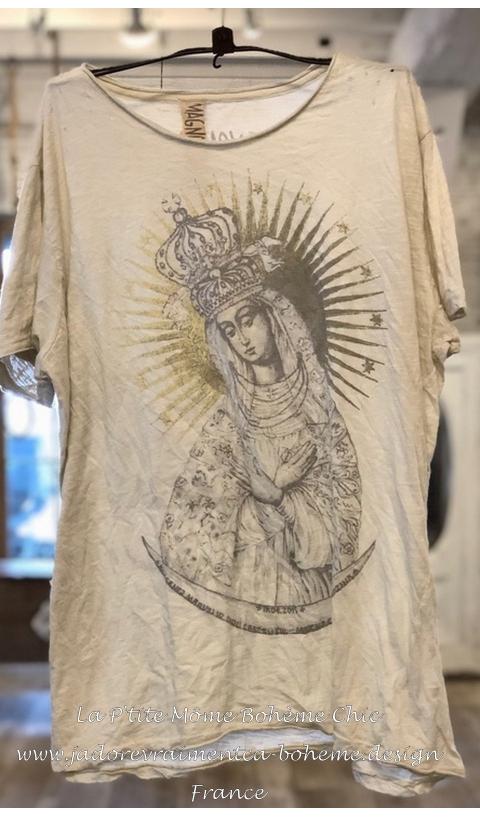 Queen of Heaven T-Shirt Moonlight Imprimé En Coupe Boy Friend