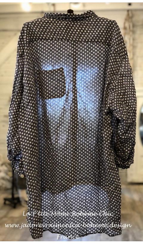 Adison Shirt in Cruz Hand Block Print  Workshirt