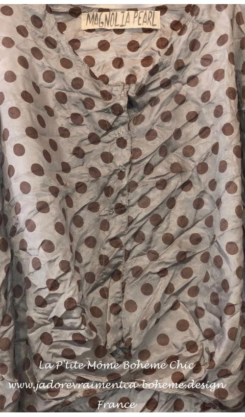 Alva layering blouse In Tidal + hand printed QUEEN of Heaven back