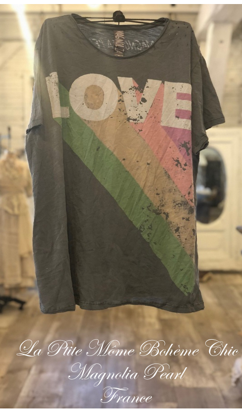 Technicolor Love Tee Boyfriend Cut in Ozzy