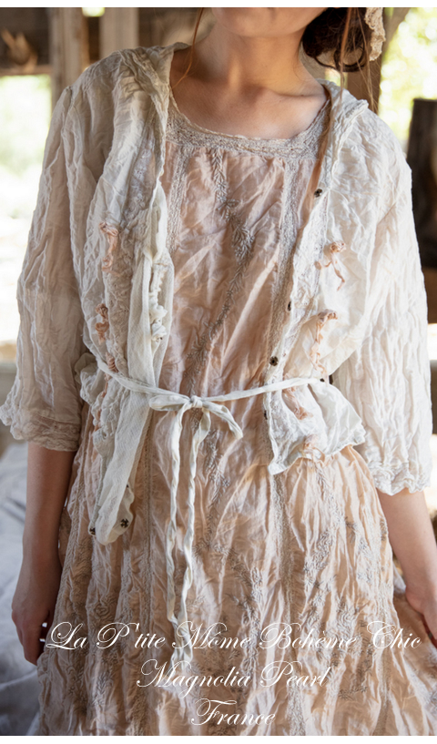 Virgie Eyelet Dress In Conch with Cotton Lace Details