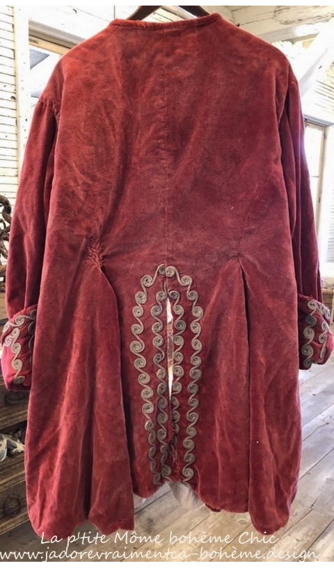 Velvet Kryssa Coat with Embroidery, Hand Mending