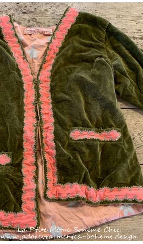 Velvet Dream World Jacket In Oz with Embellished Sleeves