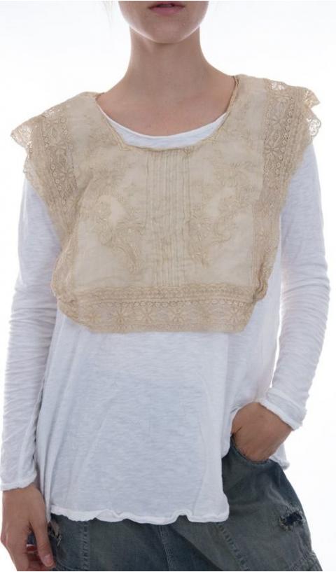 Eeti-Belle Jabot Collar In Tulle & Embroideries....Looooove This