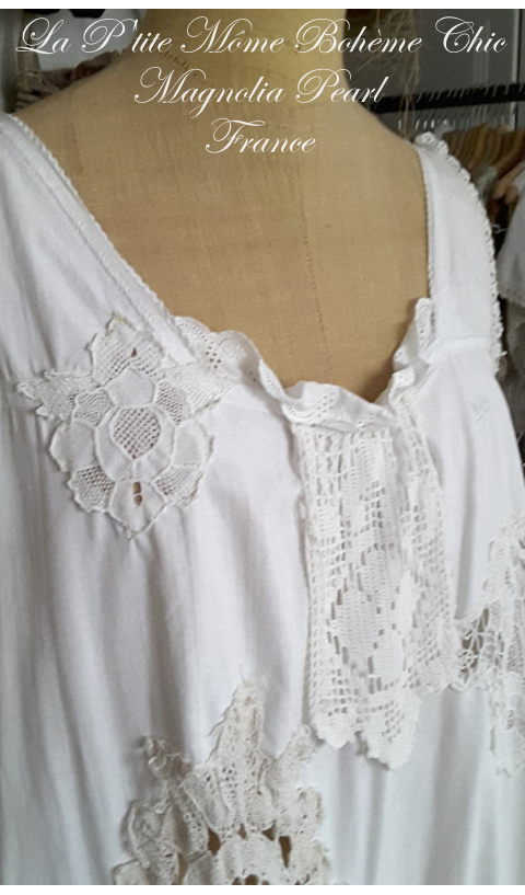 OAK Farmer Dress In Antique Linen & Lace