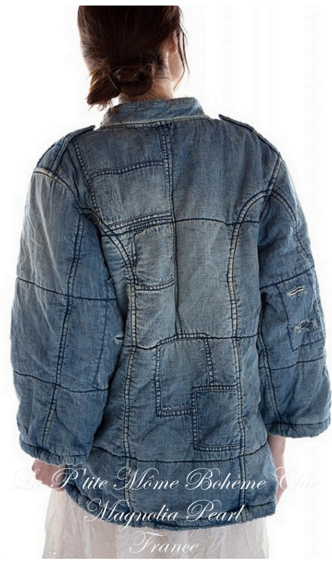Love Militia Puff jacket En Washed Indigo
