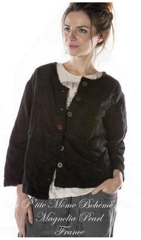 Sturla veste en coton tissé avec patch En Midnight