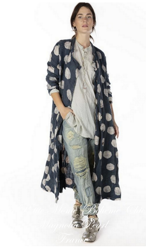 Claudette Linen Duster with Pockets In Intuition