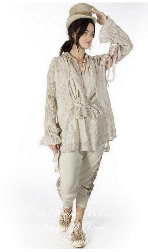 Amadeus Top with Embroidery & Lace In Tika