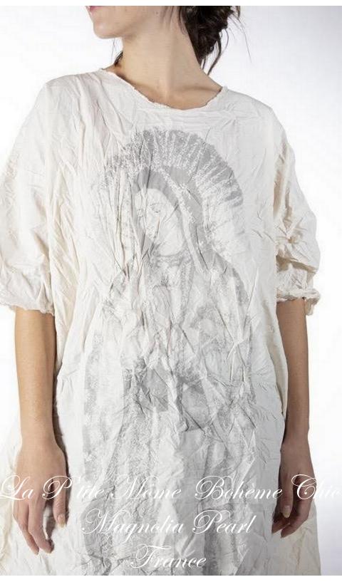 Immaculate Mary Artist Smock Robe En Popeline En Natural