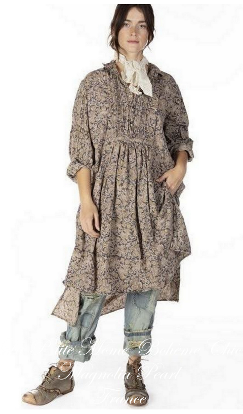 Cordelia Night Poplin Dress Shirt  In Kalamkari