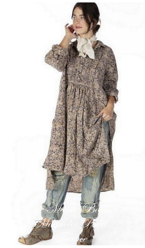 Cordelia Night Poplin Dress Shirt  In Kalamkari