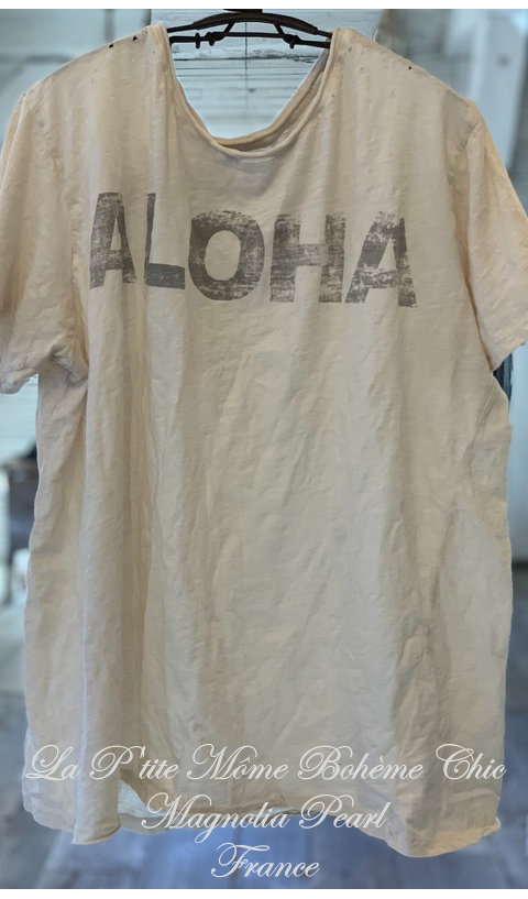 Aloha Tee Boyfriend Cut in Moonlight