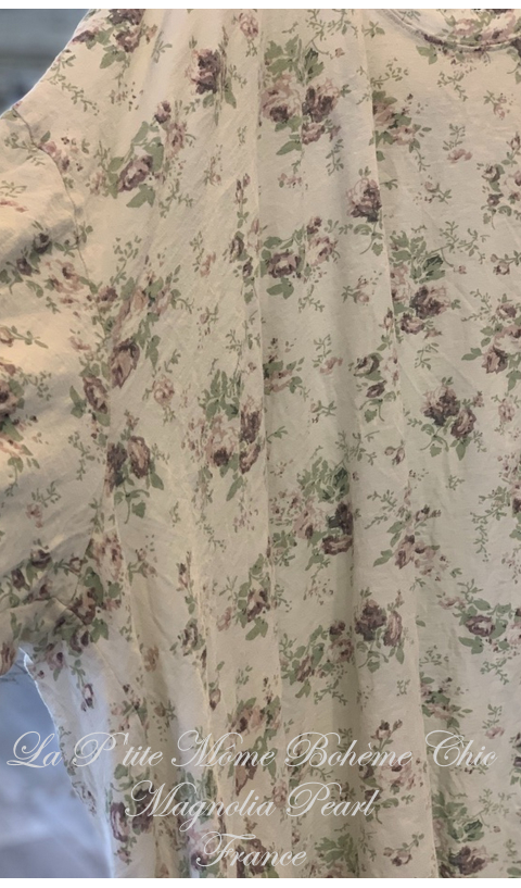 Francis Oversize Floral Print Pull-Over In Wine-Rose