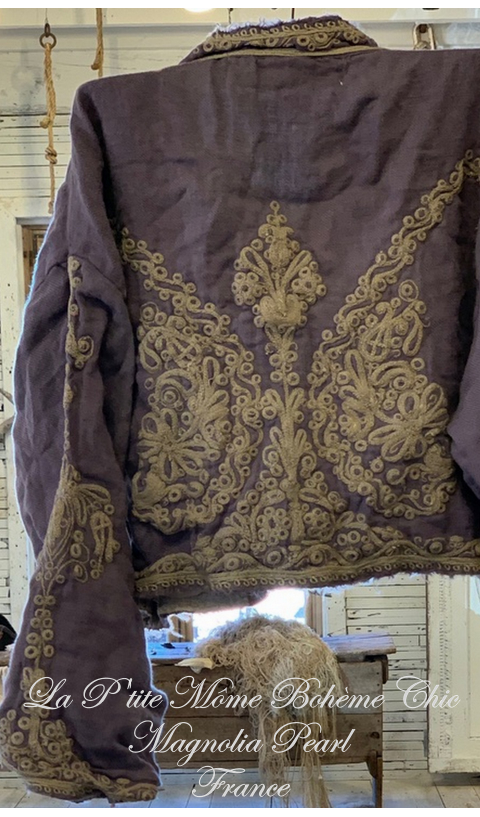 OMAYRA jacket + ottoman style embroidery