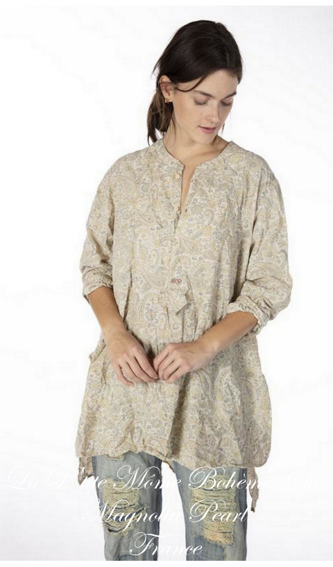 Ines Classic Shirt in Township with MP Cross Stitch
