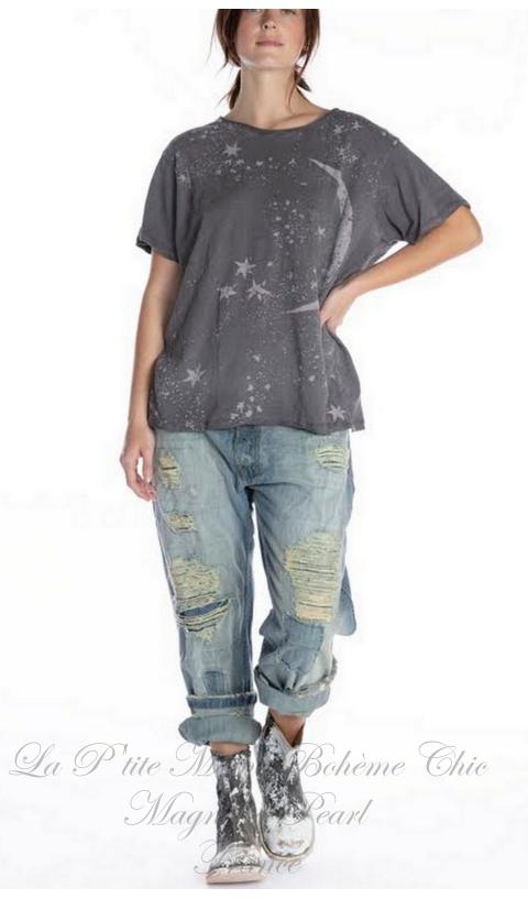 Galaxy-Dust T-Shirt En Ozzy Imprimé Blockprint
