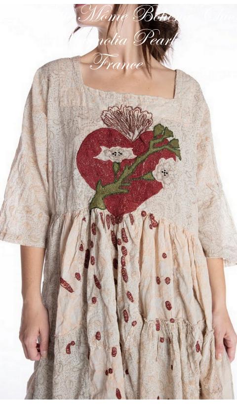 Gloria-Dress Bleeding Heart In J-Mitchell