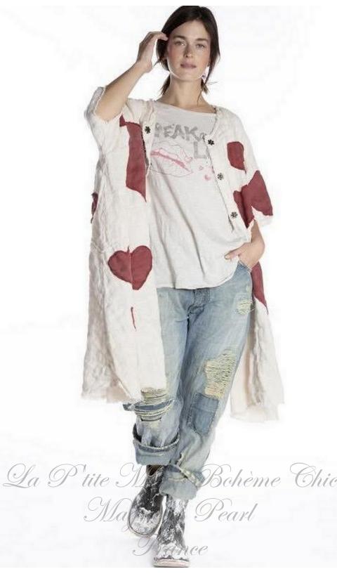 Kimi Manteau En Cœur Applique En Love....Je l'adore