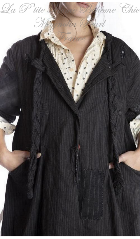 Phoenix Jacket In Pinstripe  With Hand Distressing, Fading
