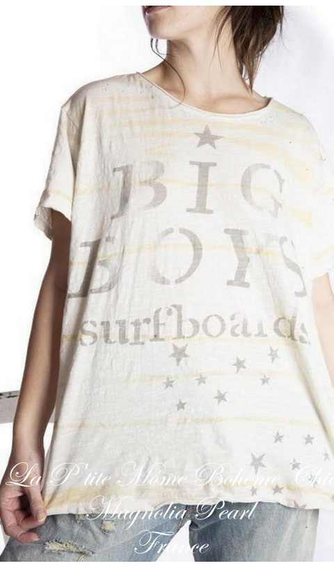Big Boy Tee Shirt In Moonlight Boyfriend Cut