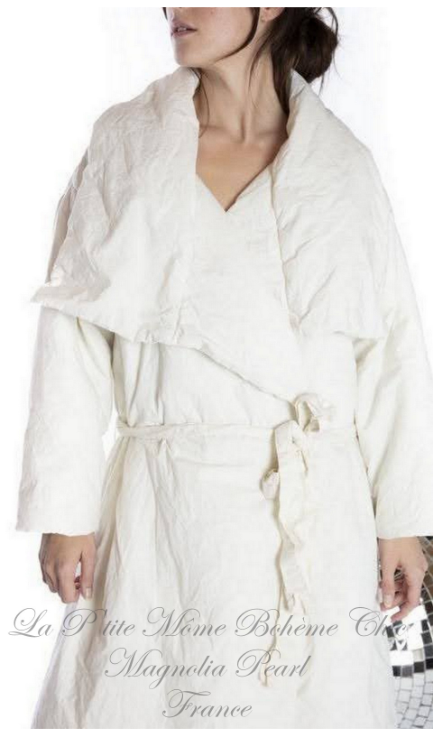 Telluride Duvet Coat with Waist Tie and Pockets In True