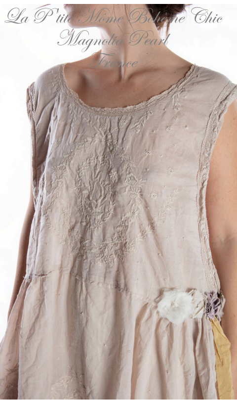 Ramie Embroidered Halsey Dress In Moonlight, Dentelle & Broderie