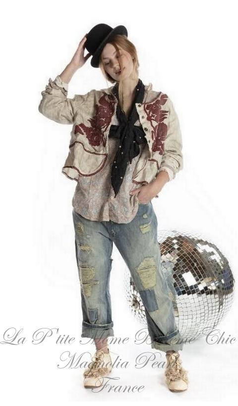 JUNO jacket + embroidery Reversible In Moonlight