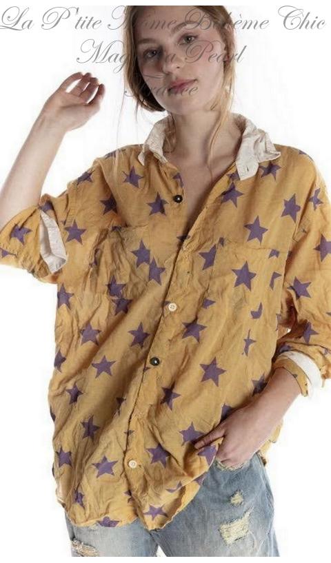 Boyfriend Shirt with Poplin Collar In Extragalactic
