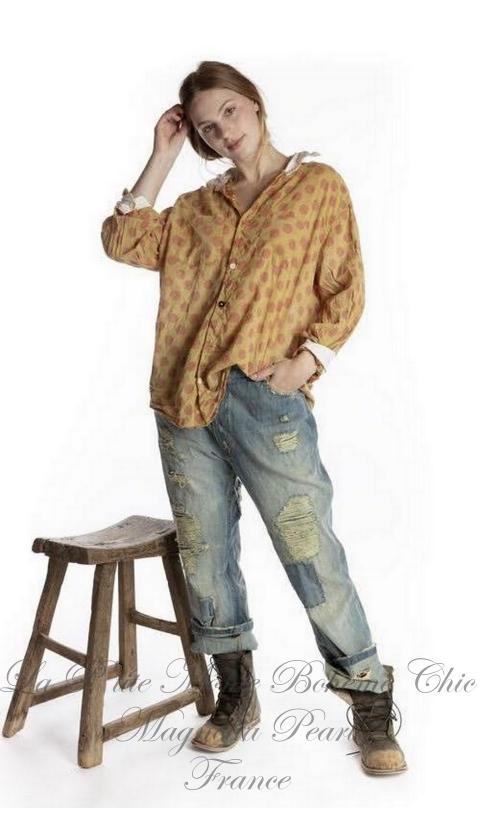 Boyfriend Shirt In Jeb with Poplin Collar