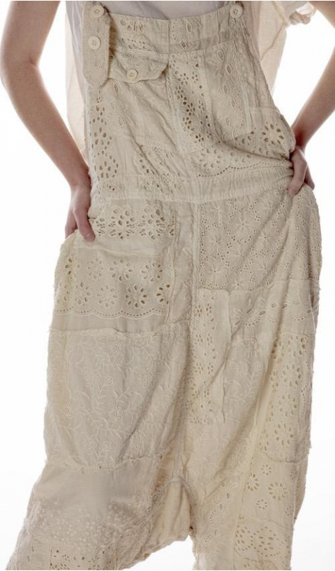 Frankie Overall's Eyelet Patwork So Beautiful Wear A Art Piece