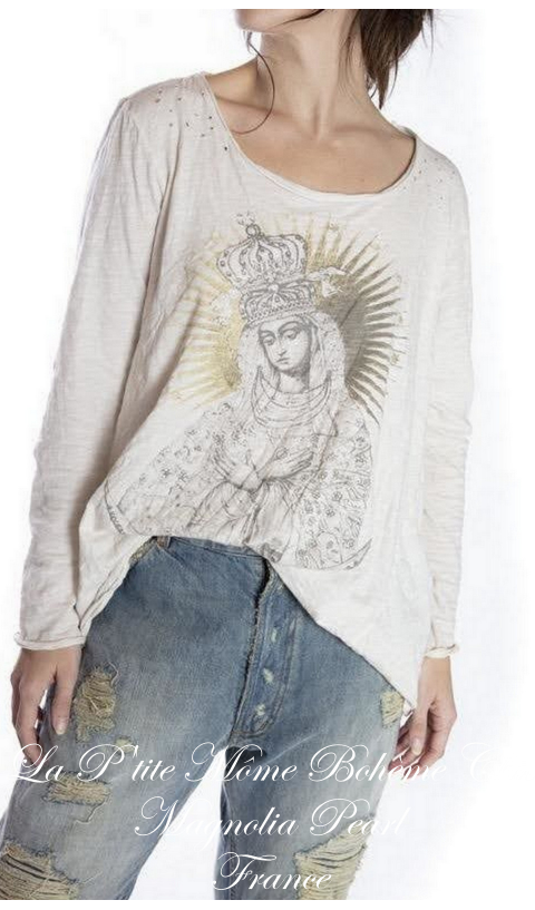 Queen of Heaven Dylan T Shirt Imprimé mains