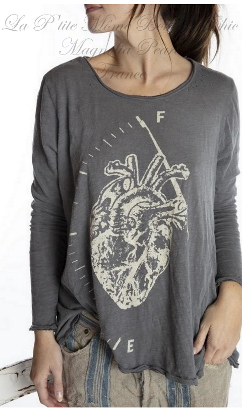 Full Heart Dylan T-Shirt Ozzy avec Block Print