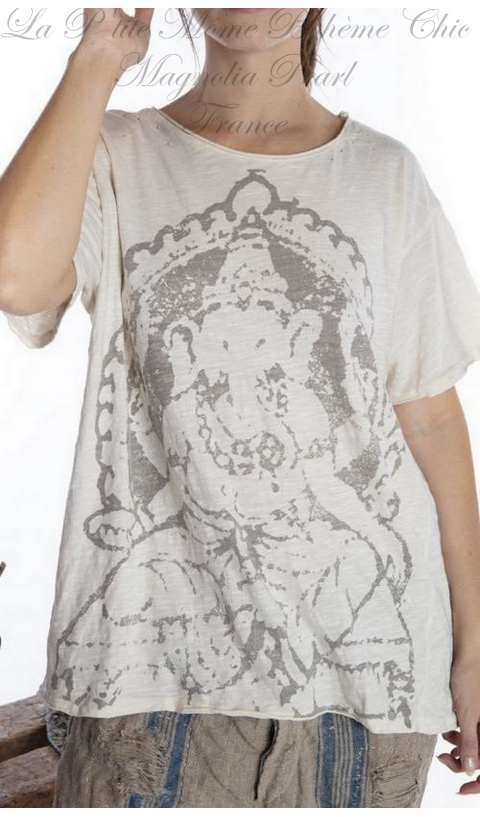 Ganesha T-Shirt Coupe Boyfriend en Moonlight