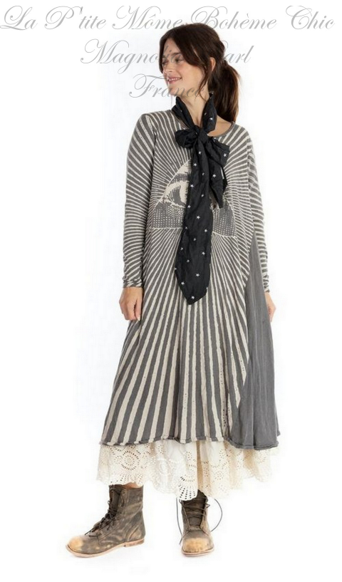 Rays For Daze Dylan T-Dress  in Ozzy Long Sleeves