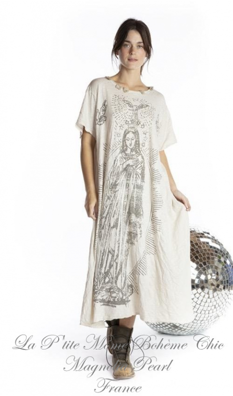 Mary Prosperity Tee Dress in Moonlight