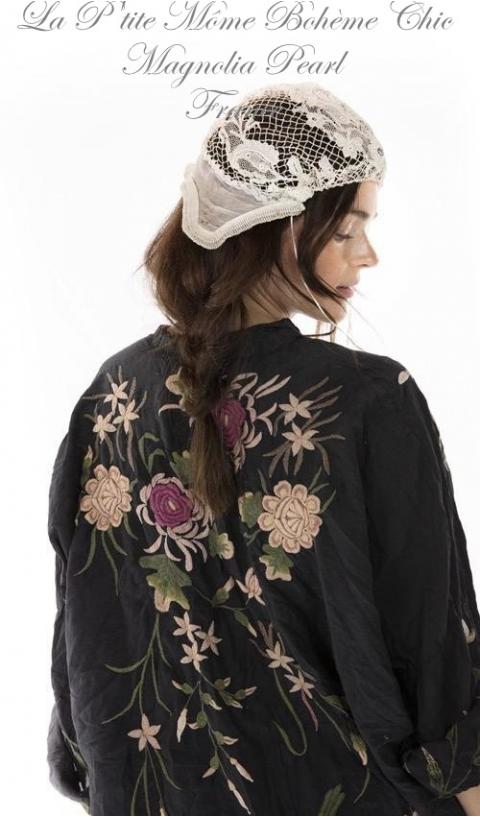 Embroidered Bonita Kimono, So Beautiful In Midnight
