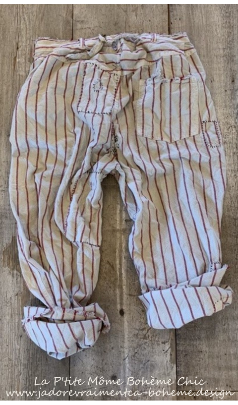 Emmett Pants In Encore With Patching, Distressing, Fading